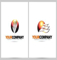 Sun Logo Design Flame vector image