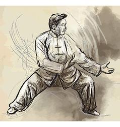 Taiji Tai Chi An hand drawn converted into vector
