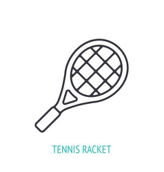 Tennis racket outline icon sports equipment vector
