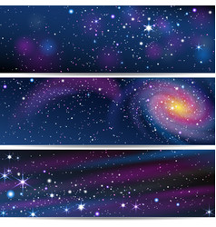 Three space backgrounds vector