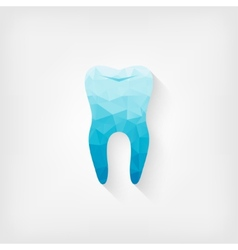 tooth blue polygon symbol vector image