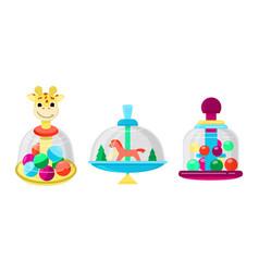 top toy kids whirligig humming spinner vector image