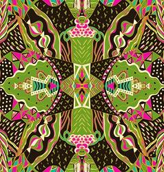 Traditional ornamental paisley bandanna Hand drawn vector image