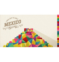 Travel Mexico landmark polygonal monument vector image