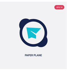 two color paper plane icon from customer service vector image