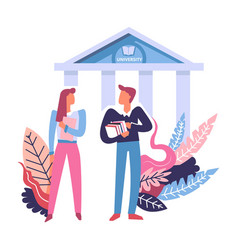 University education and students concept vector