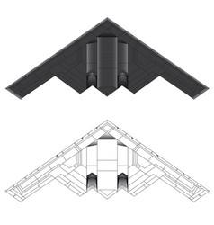 Us b-2 bomber bottom view vector
