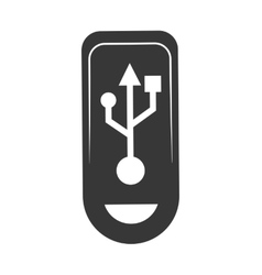 Usb silhouette icon gadget and technology design vector