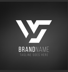 v letter logo design geometric triangle arrow vector image
