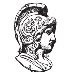 Warrior head was frequently found on medallions vector