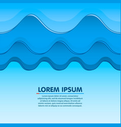 waves clouds or mountains seamless light blue vector image