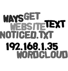 Ways to get your website noticed text word cloud vector