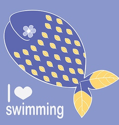whale loves swimming vector image
