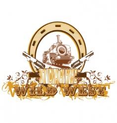Wild west vignette ii vector