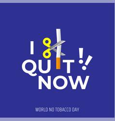 World no tobacco day31 may vector