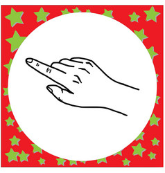 black lines of hand gesture pointing vector image vector image