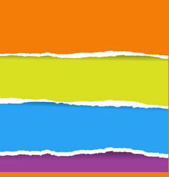 color torn paper vector image vector image