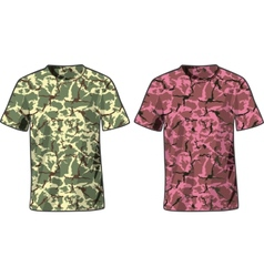Mens Military Shirts front view template vector image vector image