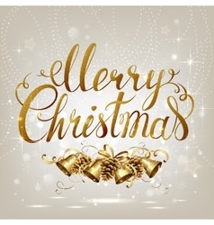 Merry Christmas inscription on the light vector image vector image