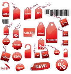 retail tags on white vector image