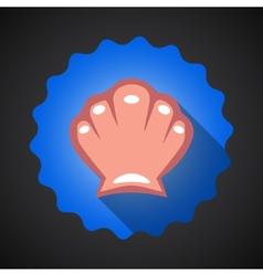Summer Travel Sea Shell flat icon vector image