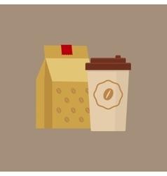 Take Away Coffee Simplified vector image