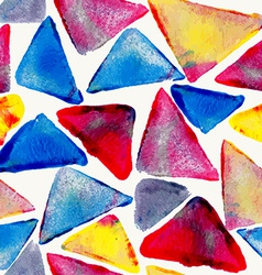 Watercolor triangle seamless pattern vector image