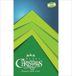 Christmas tree modern design vector