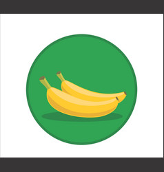 fresh banana cartoon rounded vector image vector image