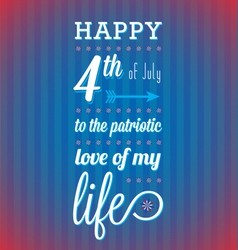 Happy 4th of July Card vector image