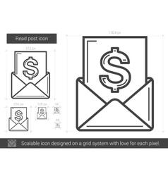 Read post line icon vector image