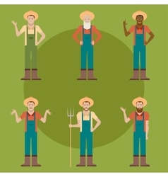 Set of Farmers vector image vector image