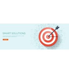 target icon Business aims concept vector image vector image