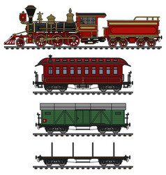 classic american wild west steam train vector image vector image