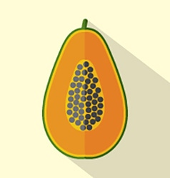 Flat Design Papaya Icon vector image