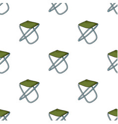 folding stool icon in cartoon style isolated on vector image