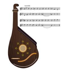 Ukrainian musical instrument vector