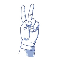 v hand vector image