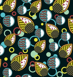 Abstract Leaves Endless Seamless Pattern Dark vector image vector image