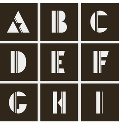alphabet Letters of geometric shapes and lines vector image vector image
