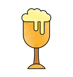 fresh beer in cup isolated icon vector image vector image
