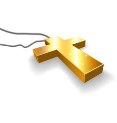 Golden crucifix vector image vector image