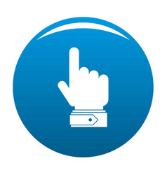 hand direction icon blue vector image
