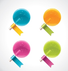lollipops with ribbons vector image
