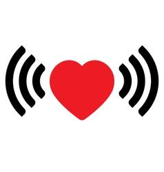 Love via internet vector image vector image