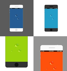 Modern phones collection vector image vector image