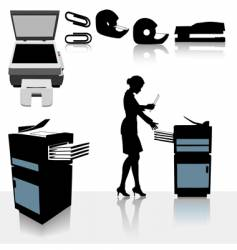office photocopiers vector image vector image