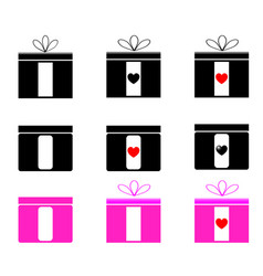 present set black and magenta color vector image