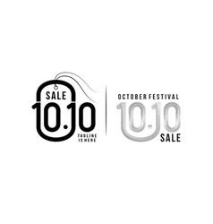 1010 online shopping sale poster or flyer design vector image
