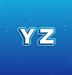 3D Font in Cartoon style with letters from Y to Z vector